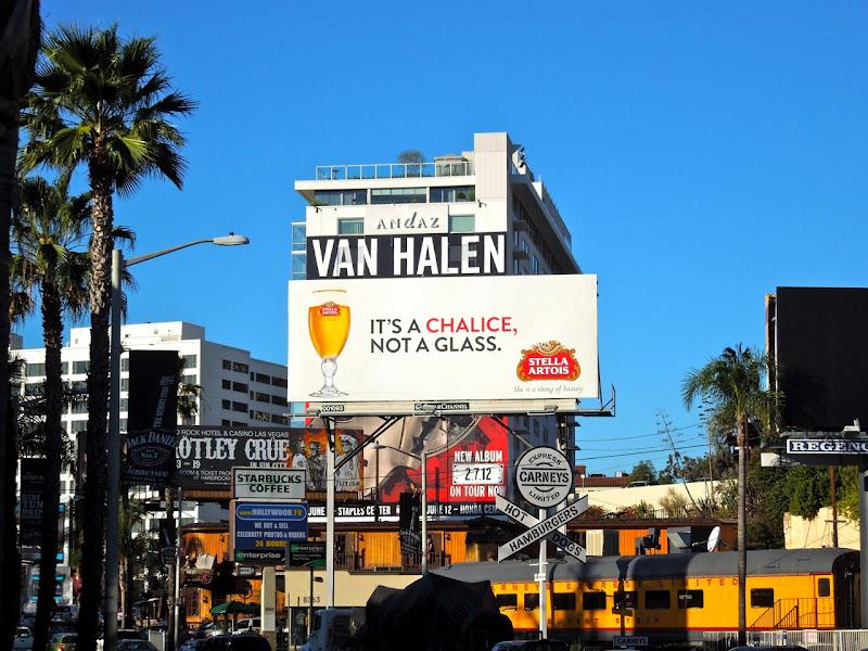 Stella Artois chalice billboard