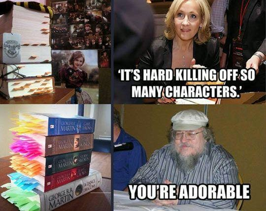 Game of Thrones killing characters George RR Martin