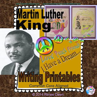 Martin Luther King, Jr. Writing Printables