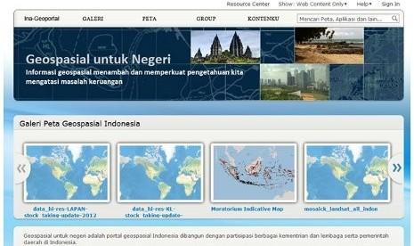 Peta Interaktif Informasi Geospasial Indonesia