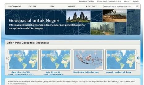 Peta Interaktif Informasi Geospasial Indonesia