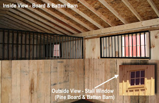 Inside Board and Batten Stall