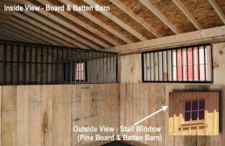 Inside Board and Batten Stall