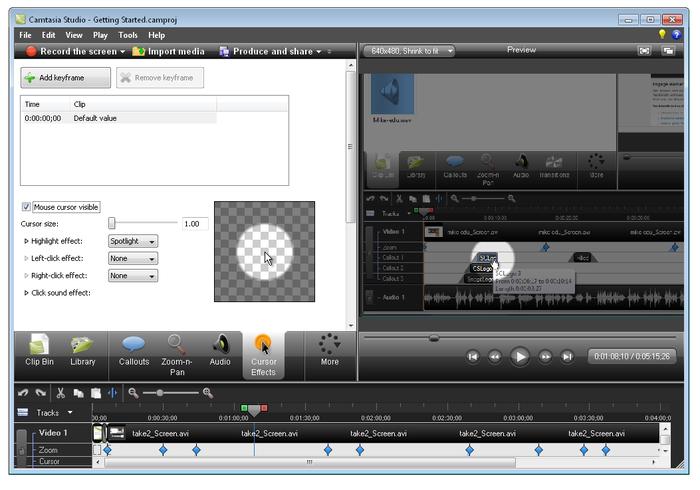 برنامج مميز جداً لتسجيل الشروح والدروس بالفيديو كامتسا ستوديو Camtasia Studio 8