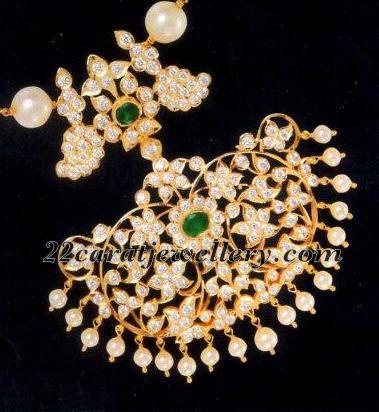 and round flat diamonds studded beautiful classy designer double step
