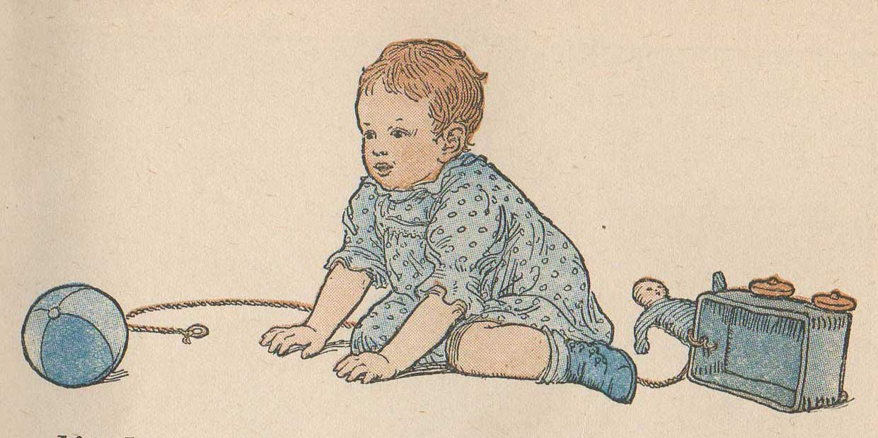 Baby With Ball Vintage Illustration Free PNG Image I Recently Picked Up A Beautiful Old Beacon Primer