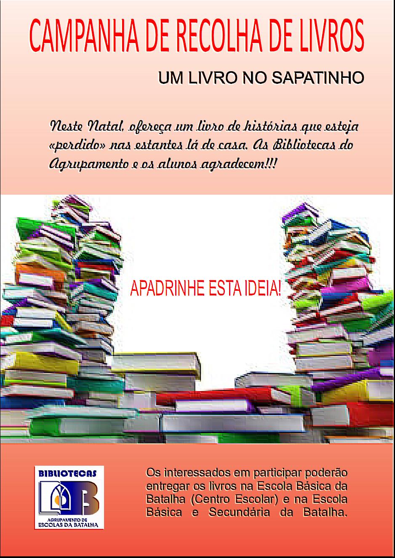 CAMPANHA RECOLHA LIVROS