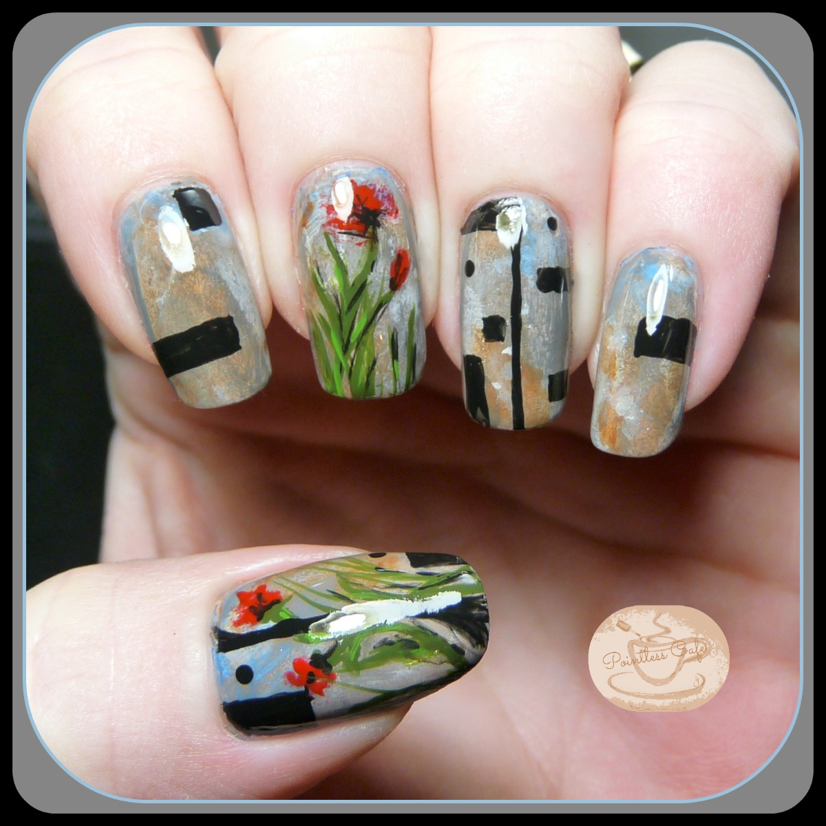 January 2015 pointless cafe 13 days of january nail art challenge prinsesfo Images