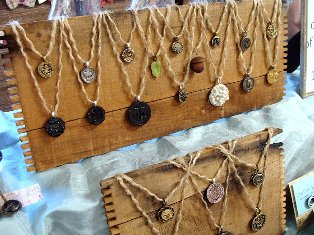 old wooden boards used for jewelry display showcase