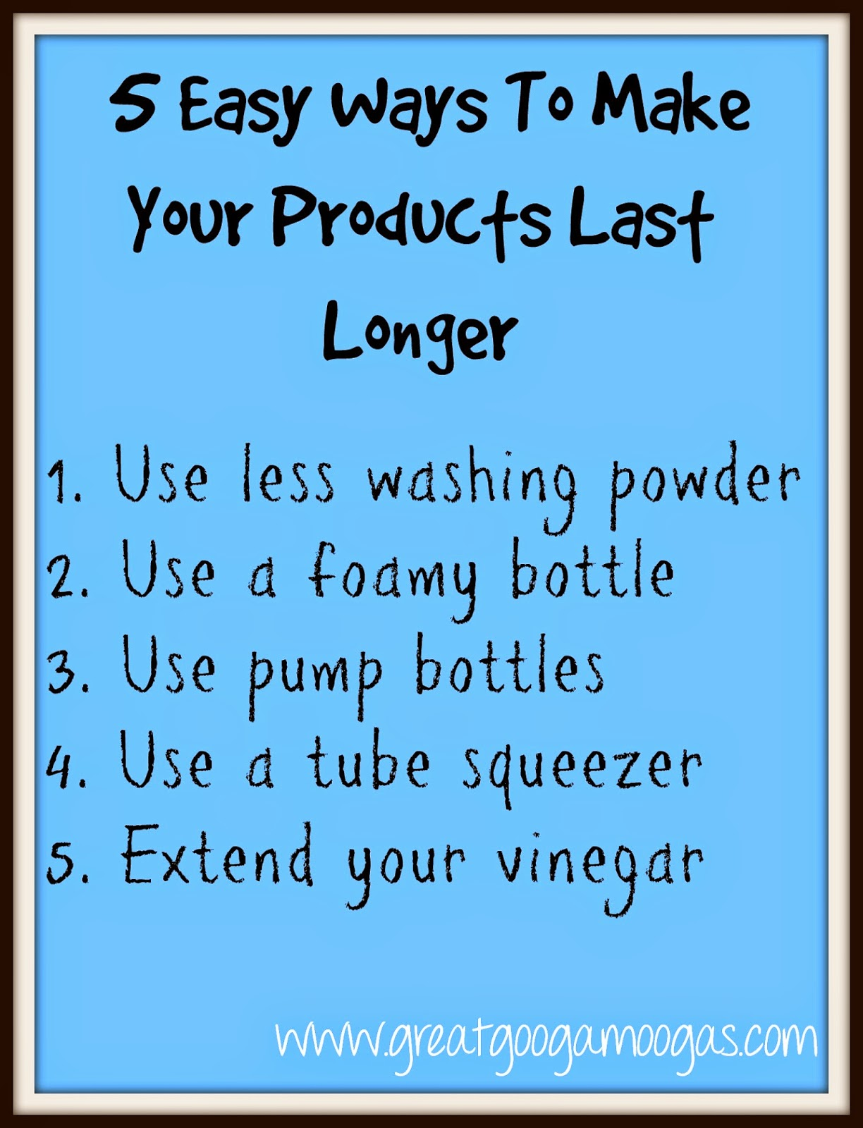 Extending Your Household Products