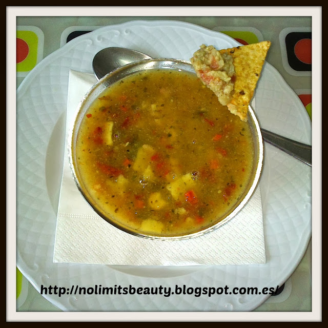Comida iHerb: Tortilla Soup with Baked Chips de Dr. McDougall's