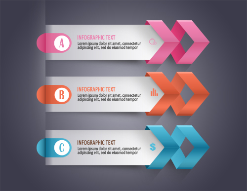 Free PSD Infographic Modern Business Arrows - PSDBOXS MIR ROM