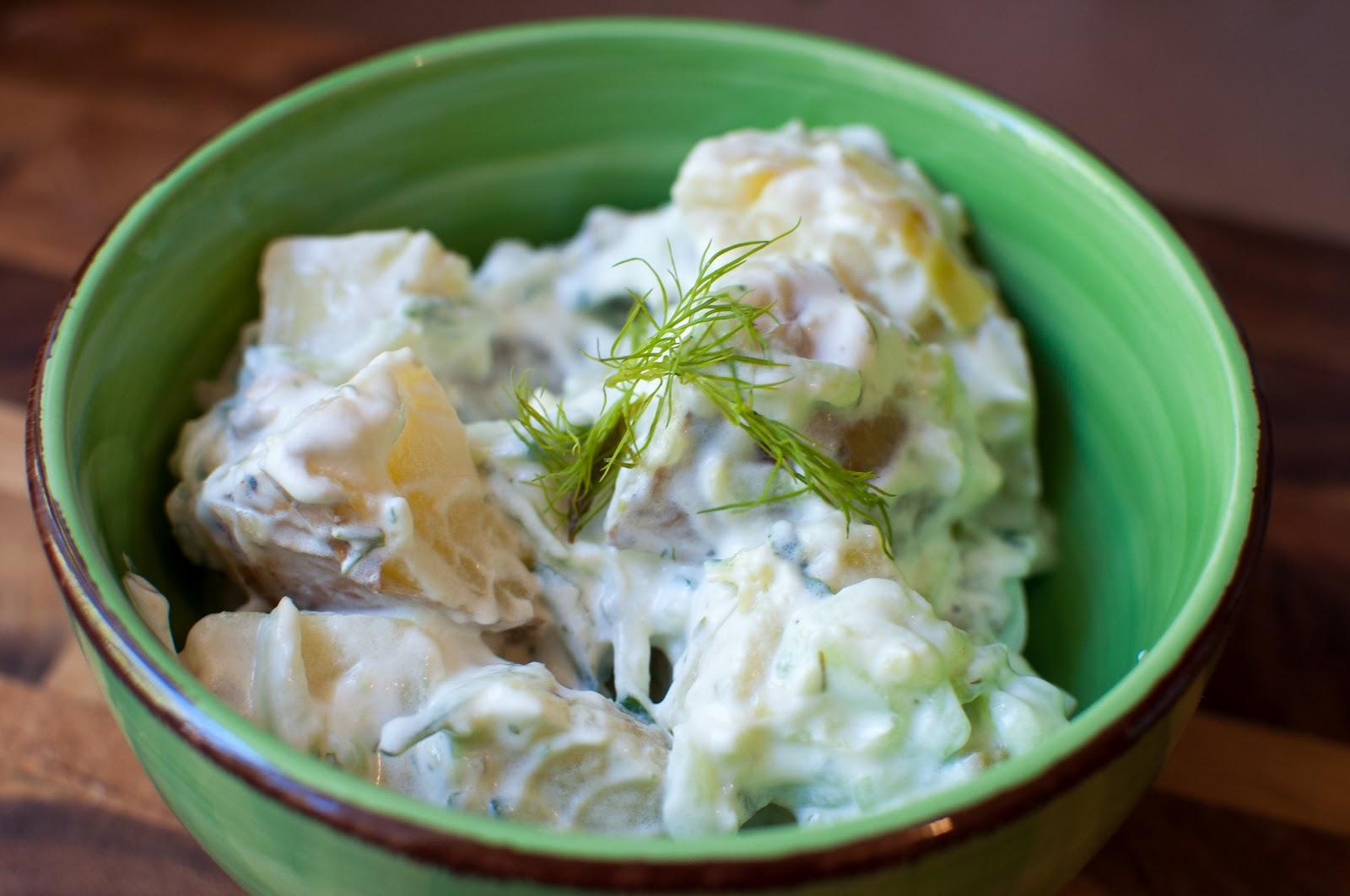 not quite gourmet: Tzatziki Potato Salad
