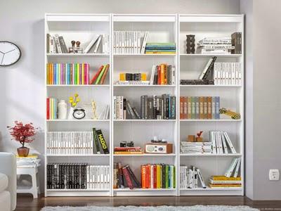 estante de livros grande para quartos maiores