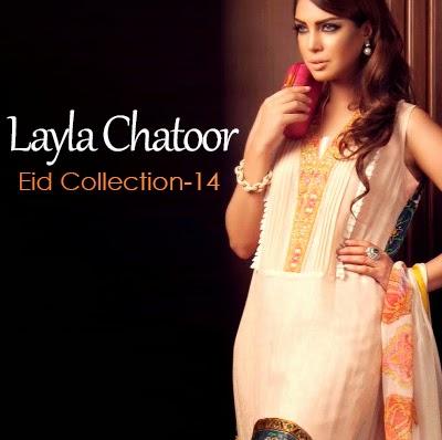 Layla Chatoor Eid Dresses 2014 | Summer Eid Dress Collection