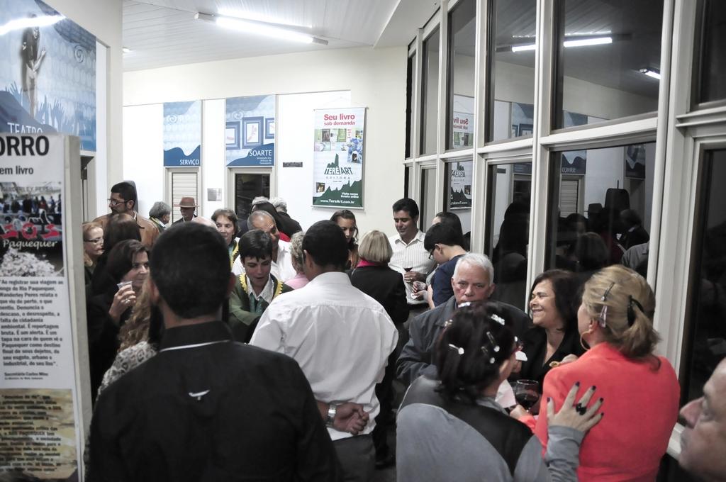 A Casa de Cultura ficou cheia para a comemoração