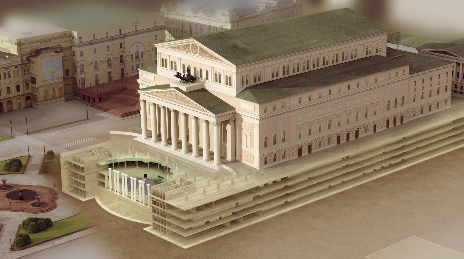 ... Theatre of Russia 3D Front Elevatin Design & Russia House Design