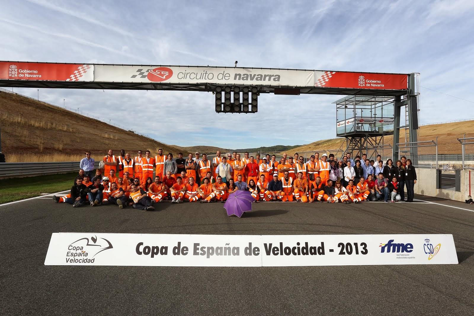 El equipo del Circuito de Navarra