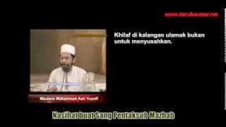Nikmatnya kewujudan Mazhab-mazhab Fiqh Islam - Maulana Asri Yusoff