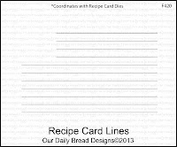 Our Daily Bread designs stamps, Recipe Card Lines