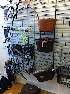Baskets, fenders, and racks at Reser Bicycle Outfitters OTR