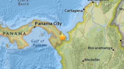 SISMO DE 6,1 GRADOS SACUDE FRONTERA ENTRE PANAMA Y COLOMBIA