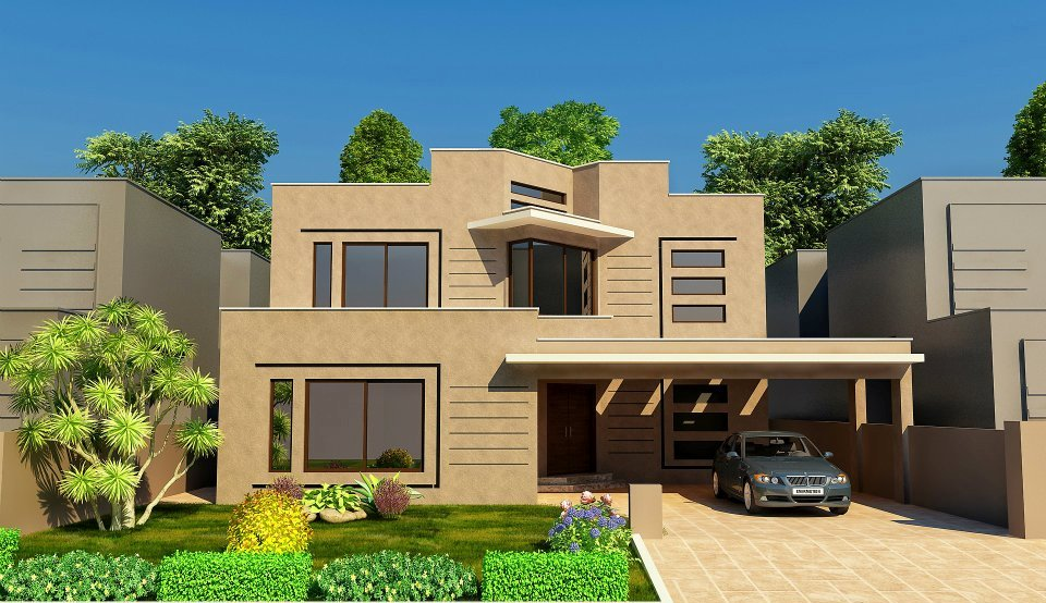 Hd Wallpapers: Nice Modern 3D front Elevation of House