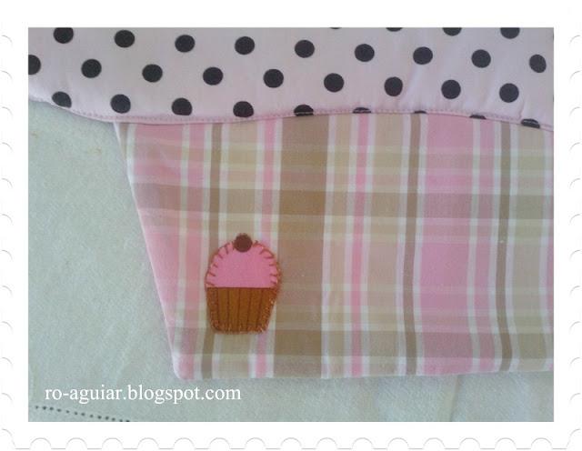 jogo-americano em patchwork - cupcake