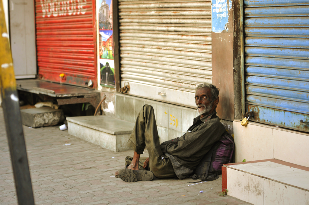 India photo of a man in the street