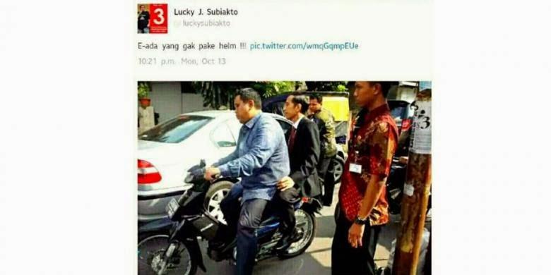 Foto Jokowi Naik Motor Bikin Heboh Media Sosial