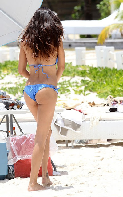 Adriana Lima Wearing Bikini at Victoria's Secret Photoshoot in St Barts - May 8, 2013