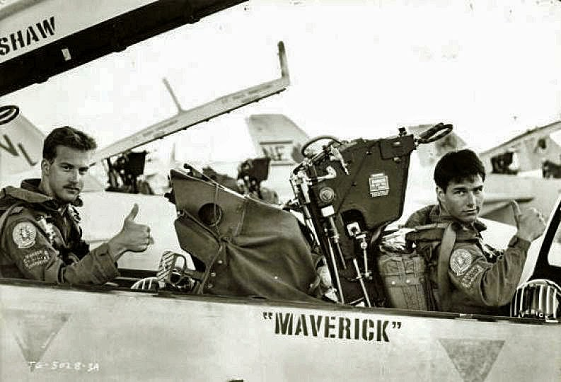 Tom Cruise & Anthony Edwards from the awesome movie TOP GUN 1986