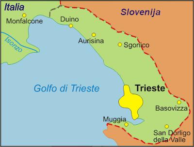 Cartina Politica della Trieste