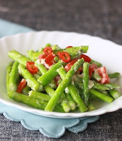 easy thai asian asparagus recipe with lemon grass