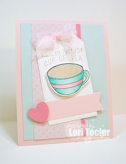 My Cup of Tea card-designed by Lori Tecler/Inking Aloud-stamps from Reverse Confetti