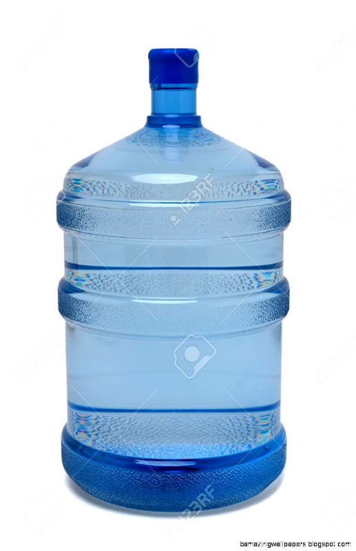 Large Bottle Of Purified Drinking Water On White Stock Photo