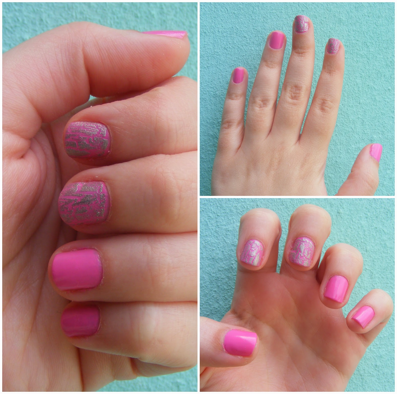 Cosette\'s Beauty Pantry: Nails Of The Day (NOTD): Pink & silver mani ...