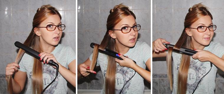 Как сделать локоны на длинные волосы с помощью выпрямителя - Pizza e Birra