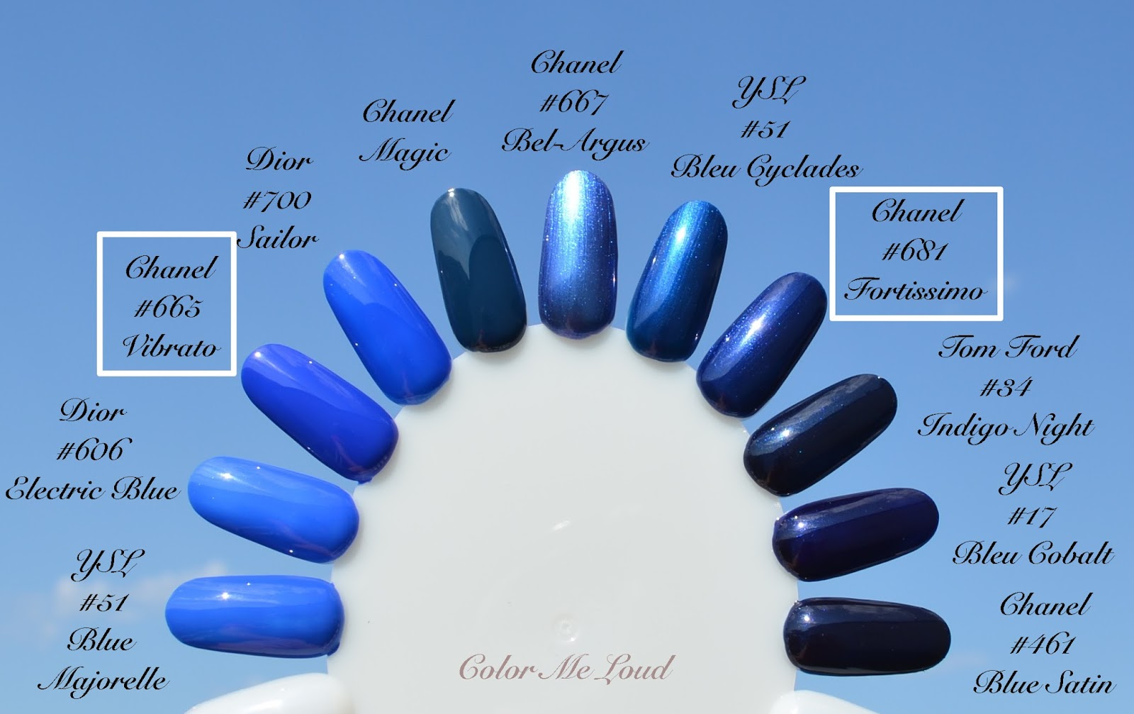 Chanel Le Vernis #665 Vibrato, #681 Fortissimo for Blue Notes ...