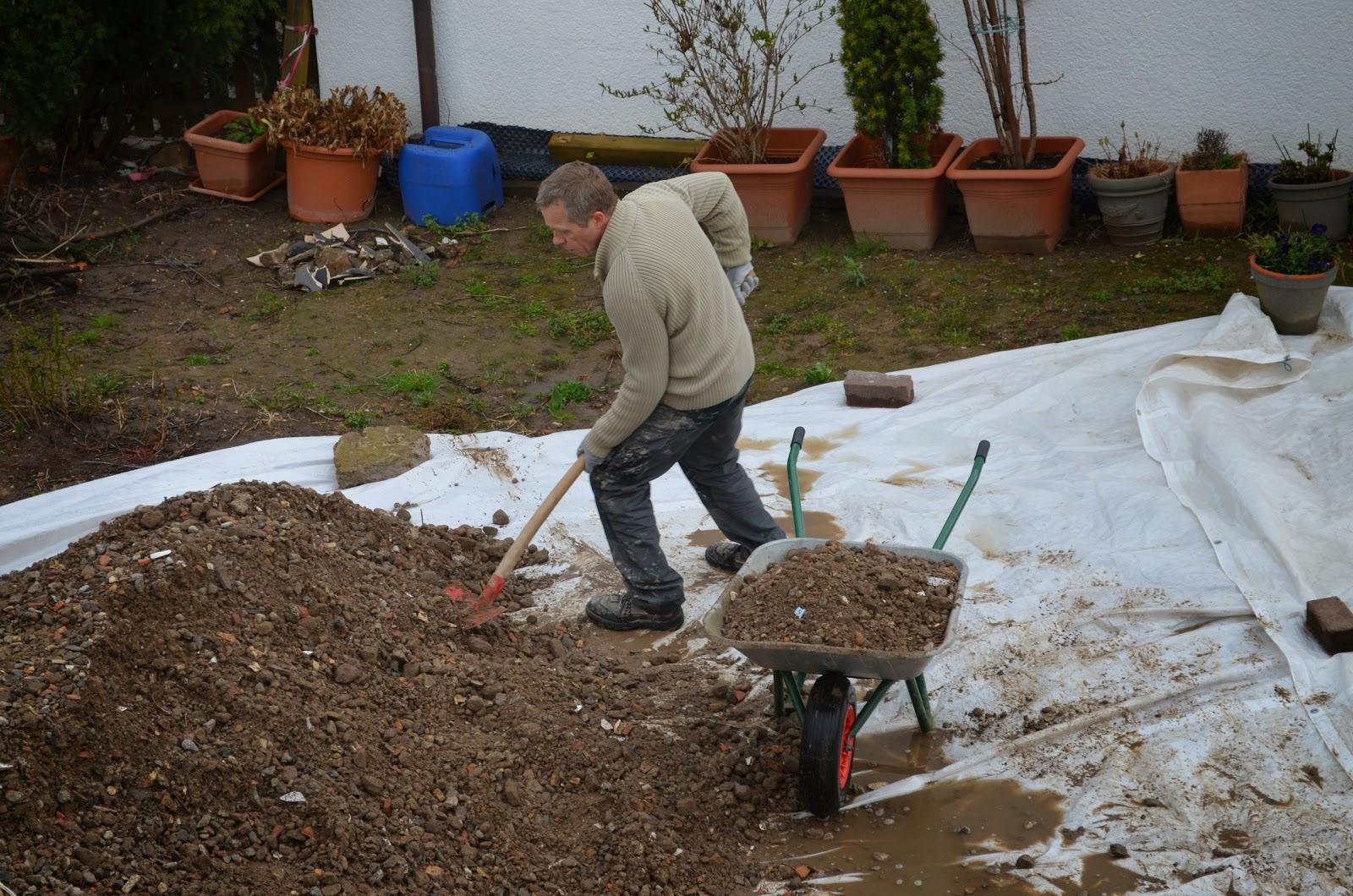 Terrasse Unterbau Schotter : HomeSweetHome Terrasse Unterbau Teil 3
