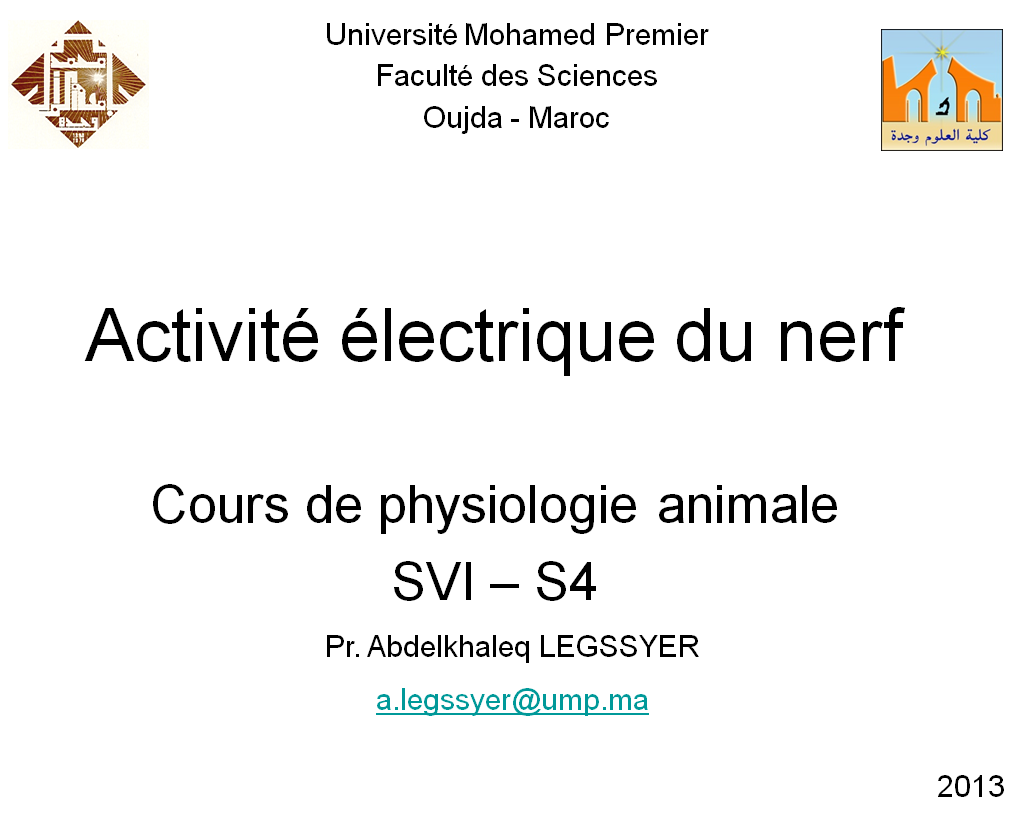 Cours de physiologie animale s4