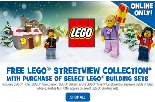 Toys R Us Free LEGO Streetview Collection
