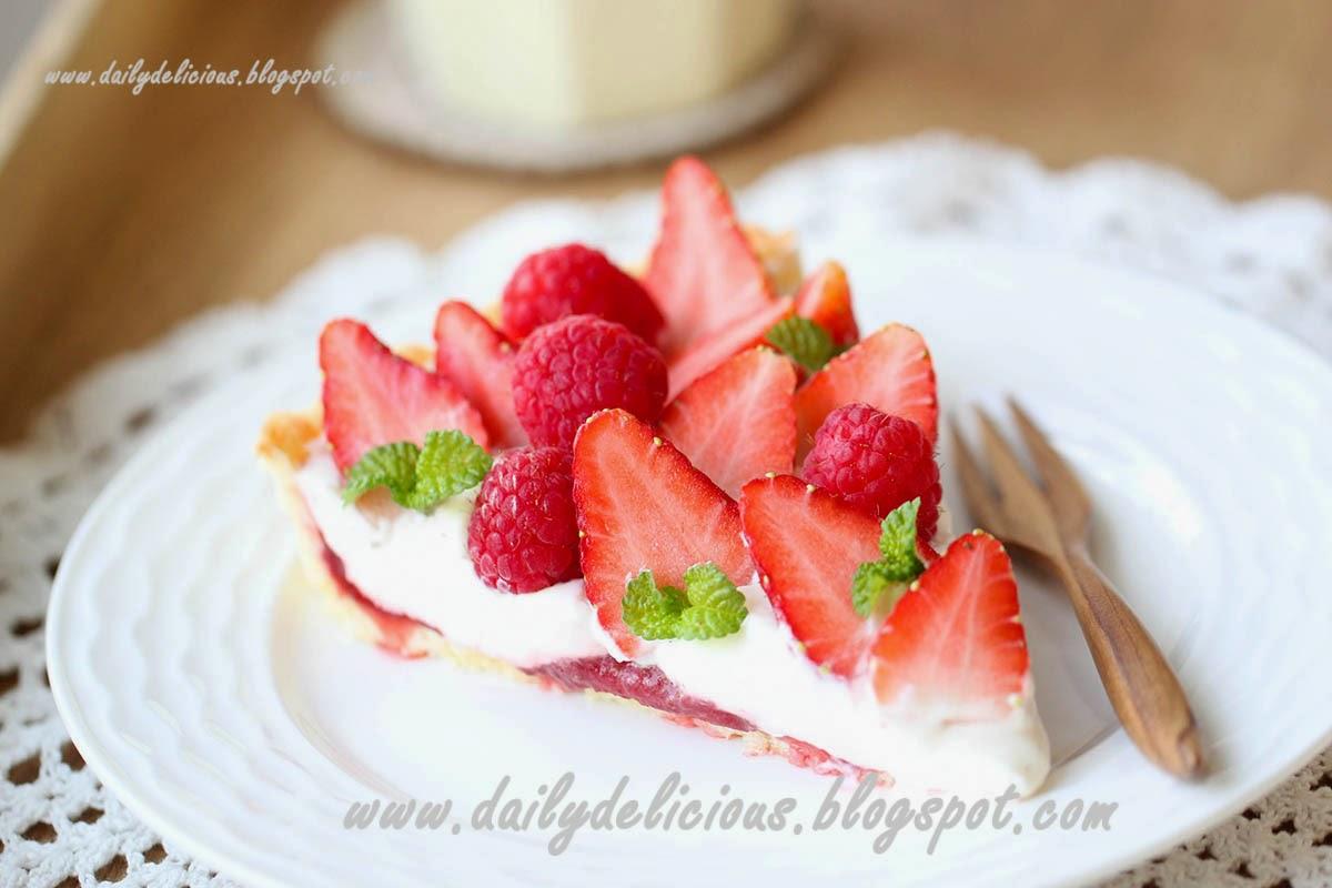 dailydelicious: Strawberry Mascarpone Tart
