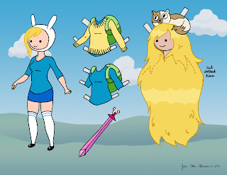 Adventure Time Fionna Paper Doll page one