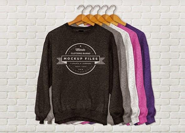Download T-Shirt Mockup Terbaru Gratis - JUMPER T-SHIRT MOCKUP PSD