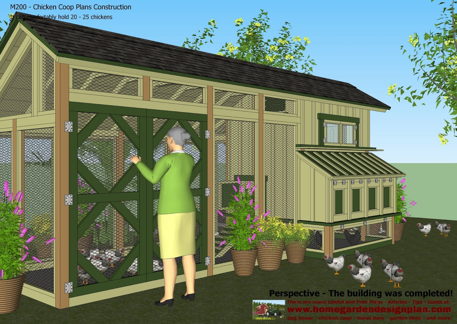 Home garden plans m200 chicken coop plans construction for Chicken house designs free