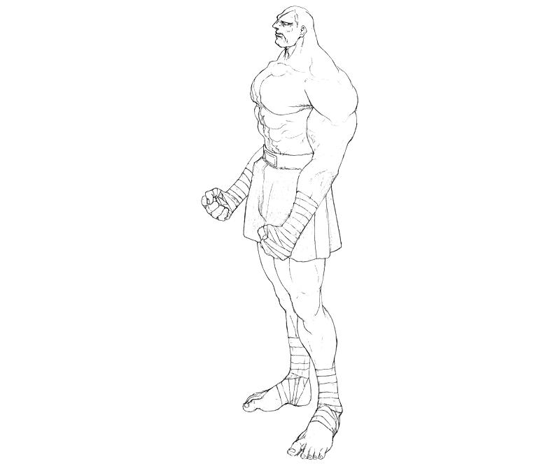 street-fighter-sagat-actions-coloring-pages