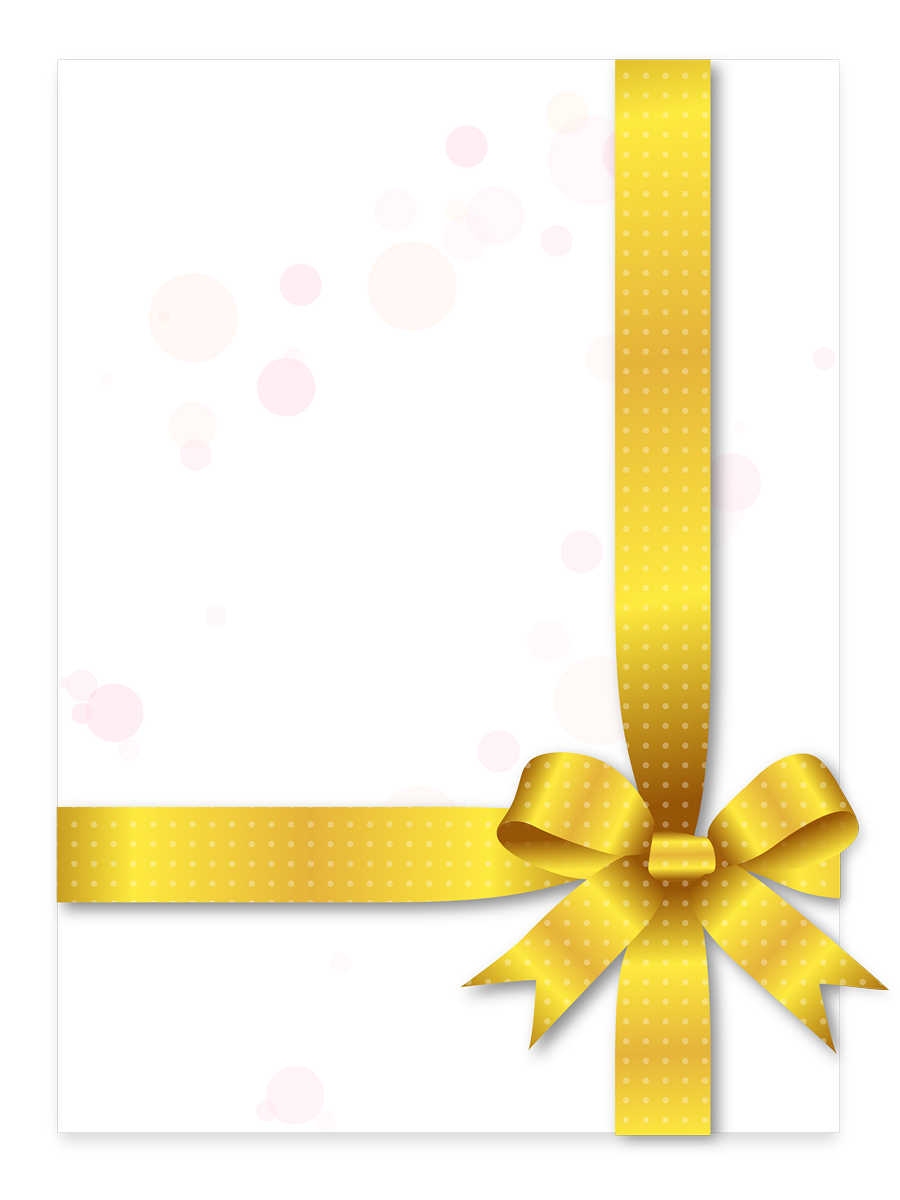 tarjeta con lazo amarillo