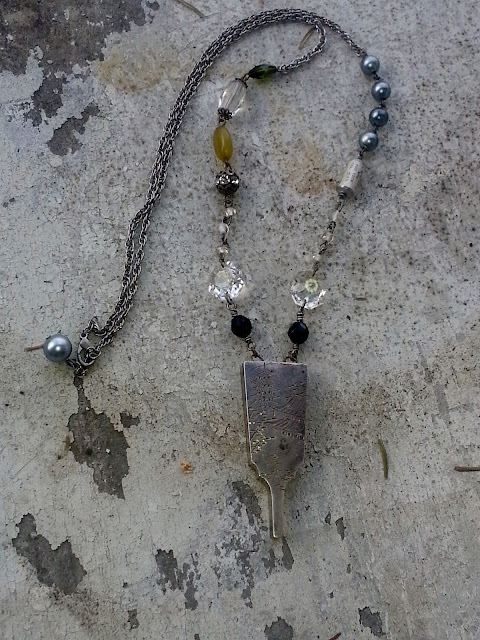 necklace I made with antique vinaigrette my father gave me