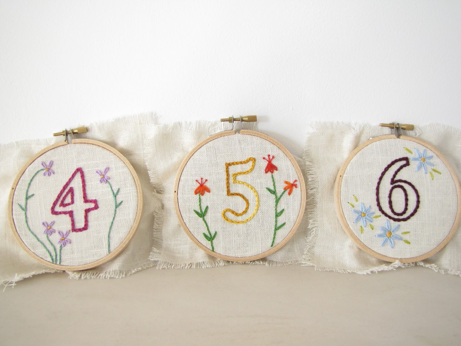 Athena Amp Eugenia Embroidery Hoop Table Numbers